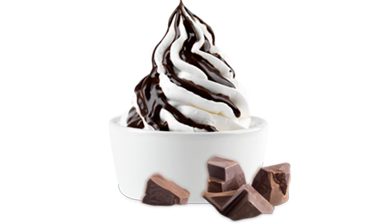 Ice Cream with Chocolate Syrup