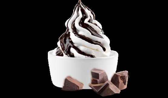 آيس كريم بنكهة الشوكولاتة