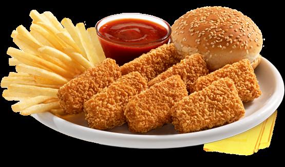 وجبة دجاج مسحب